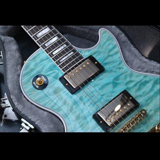 Gibson M2M Les Paul Custom Quilt Trans Sky Blue Gloss 電結他