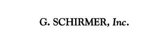 G. Schirmer